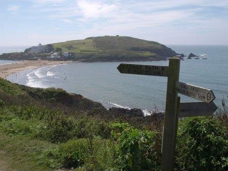 Coastal view of Burgh Island, South Devon