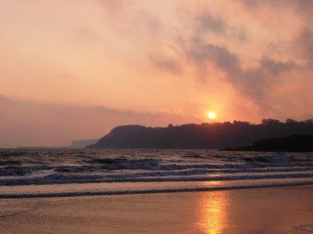 Sunset at Broadsands Beach, South Devon