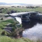 Clapper Bridge at Scorhill Down on Dartmoor