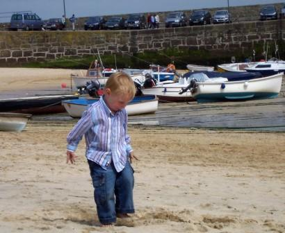 Holiday fun in the sand on a Devon Beach close to our holiday home
