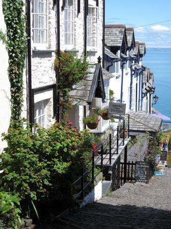 Clovelly on the north Devon coast is an easy drive from this Devon holiday home