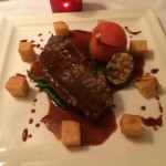 Special Beef Main Course at the Thatched Cottage