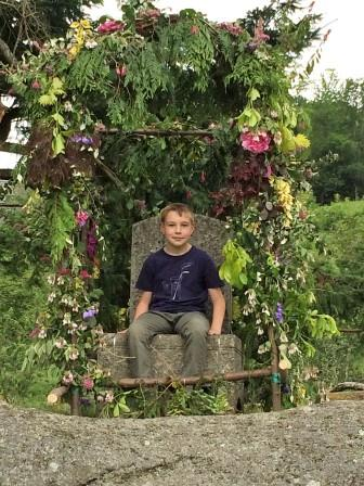 Lustleigh's May Queen Throne, a stone's throw from our Devon Holiday Rental