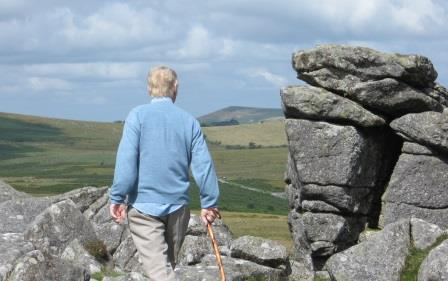 Walking Dartmoor Tors near to the holiday cottage