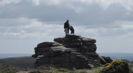 Family Fun climbing Dartmoor Tors near to the holiday cottage