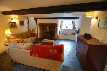 Lounge of the Dartmoor Holiday Cottage