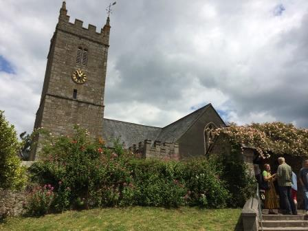 Church in Lustleigh on Dartmoor, Devon