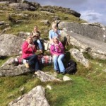 Picnic on Dartmoor near to the thatched holiday cottage