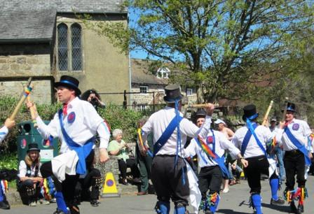 Morris Dancing near the Holiday Home in Lustleigh