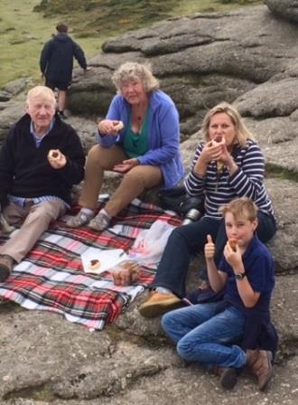 Devon Cream Tea on top of Haytor, Dartmoor's most iconic Tor