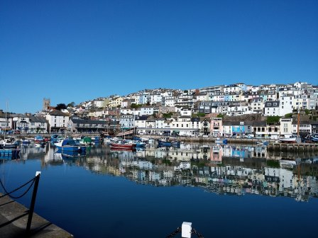 Quaint fishing town of Brixham is a short drive from our dartmoor holiday home