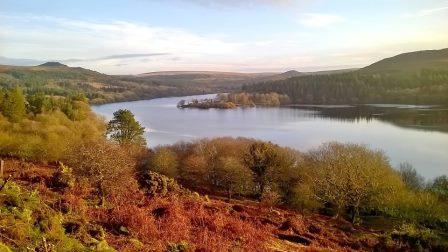 View of Burrator Reservoir on Dartmoor