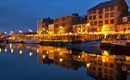 Plymouth's Barbican 36 miles from the dartmoor holiday home