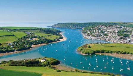 Salcombe 38 miles from the dartmoor holiday cottage