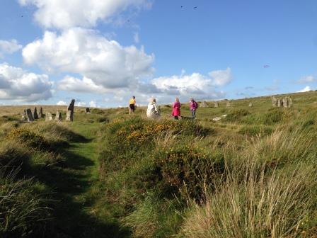 Devon's largest stone circle at Scorhill on Dartmoor