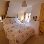 Main double bedroom of the Dartmoor holiday cottage in Lustleigh