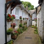 Quaint alleyway, Chagford, Dartmoor, Devon