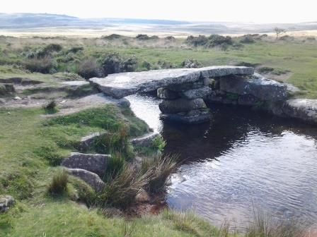 Clapper Bridge at Scorhill Down on Dartmoor