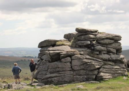 Kid's and Dad's love clambering over the many Tors found close to our Devon Holiday Home on Dartmoor