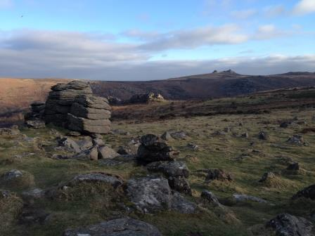 Stunning view of Saddle Tor in the distance