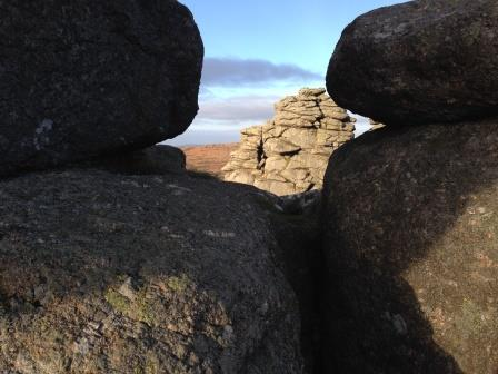 Hound Tor on Dartmoor, a short drive from this thatched holiday rental