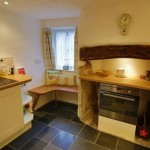 Kitchen of the Thatched Dartmoor Holiday Cottage in Lustleigh