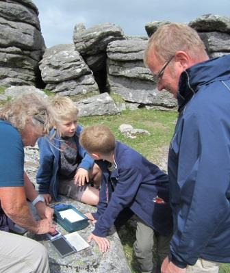 Dartmoor Letterboxing on Hound Tor near to our holiday cottage