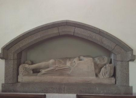 Sir William le Proux in Lustleigh Church on Dartmoor