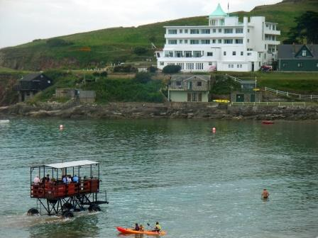 Sea Tractor to Burgh Island, South Devon