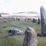 Stone Circle at Scorhill Down on Dartmoor nearby our holiday cottage