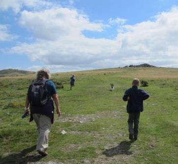 Family holiday fun walking on Dartmoor
