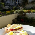 Devon Cream Tea in the garden of the Dartmoor Holiday Cottage