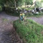 The grave of Dartmoor's Kitty Jay near the holiday accomodation
