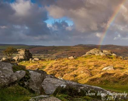 Haytor, close to the holiday cottage and within easy reach from the road, gives amazing views of Dartmoor
