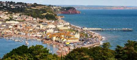Teignmouth 15 miles from our self catering cottage on Dartmoor