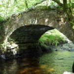 Hisley Bridge near the Dartmoor Holiday Cottage in Lustleigh Devon