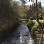 River Wrey flowing through Lustleigh close to the Dartmoor Holiday Cottage