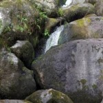 River Wrey water falls close to the thatched Dartmoor Holiday Cottage