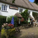 The Cleave Pub in Lustleigh close to this self catering holiday accommodation on Dartmoor