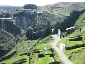 Tintagel, only 55 miles from the Dartmoor holiday cottage, is a great day out