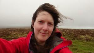 Emily Woodhouse trekking around Dartmoor