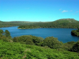 Burrator Reservoir is a short drive from this self catering holiday accommodation on Dartmoor