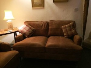 New sofas arrive at Three Pound Cottage, the Dartmoor Holiday Cottage in Lustleigh Devon