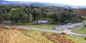 Main car park and visitor centre for Dartmoor's famous Haytor