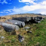 Giant granite corbels made for London Bridge left lying on Dartmoor by Swell Tor Quarry